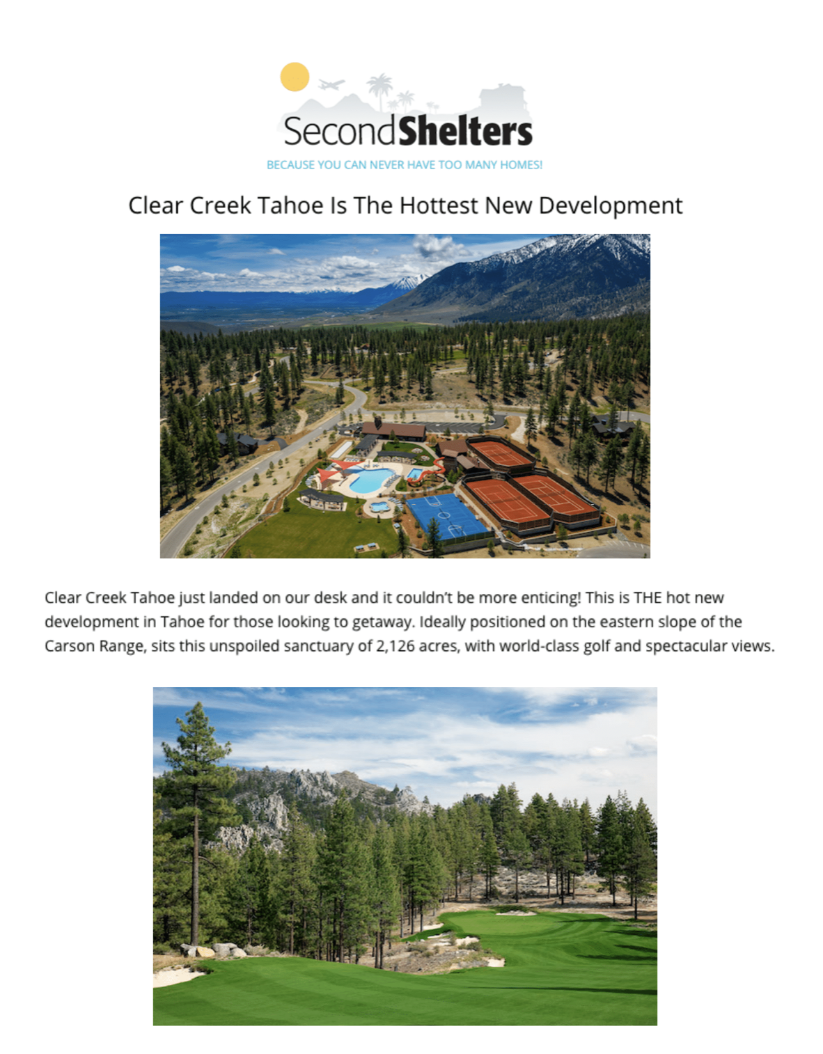 Second Shelters
