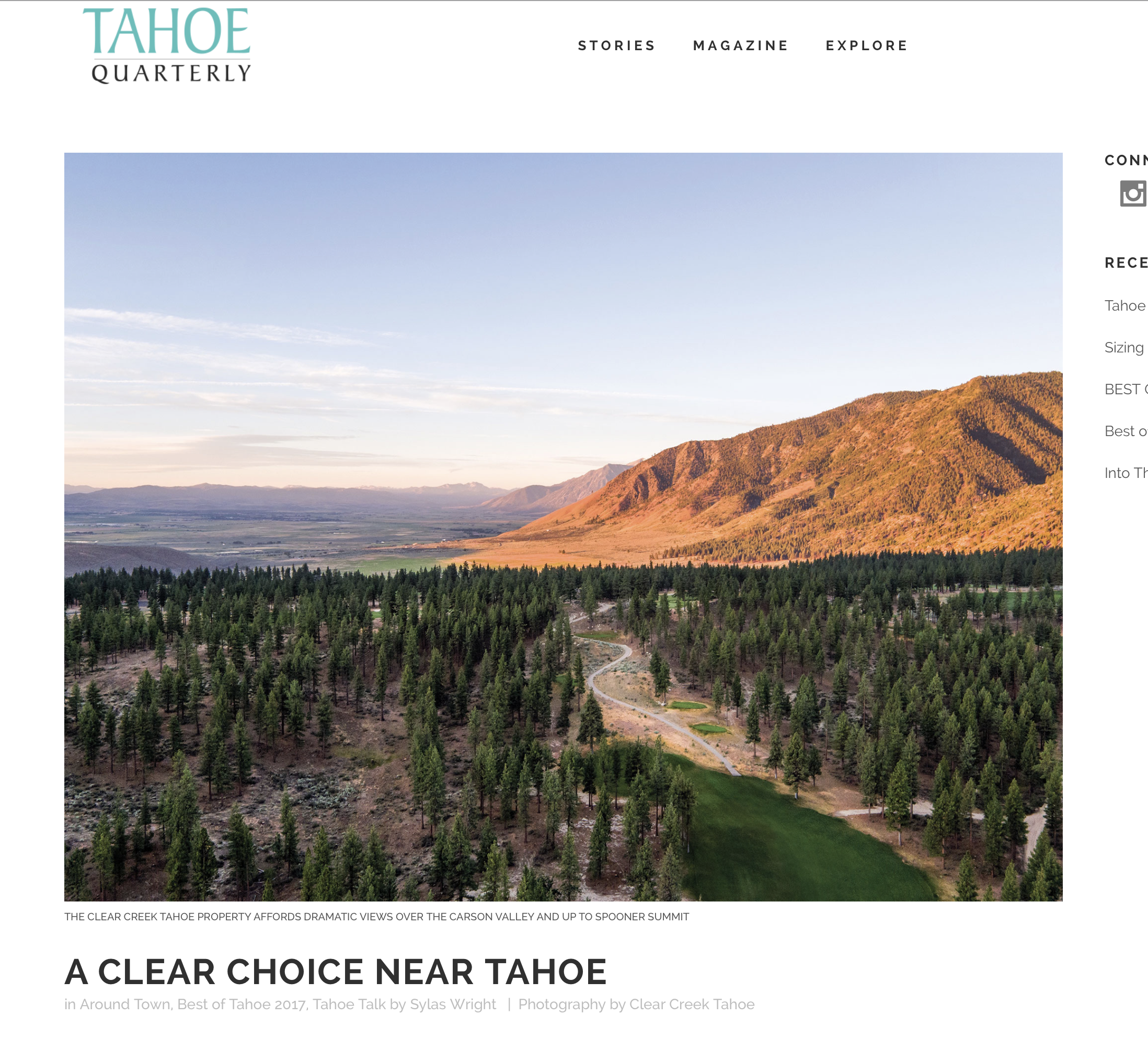 Tahoe Quarterly